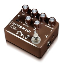 Dr. J Sparrow Driver & DI Guitar Effects Pedal for Bass Hand Made Electric Bass Overdrive Pedal efeito True Bypass D-53
