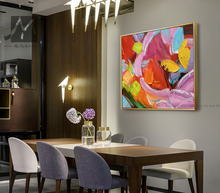 Modern Hand Painted Colorful Abstract Painting Wall Art