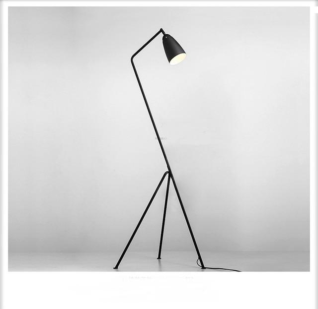 Design a tre piedi nero lampada da terra camera da letto studio luci ...