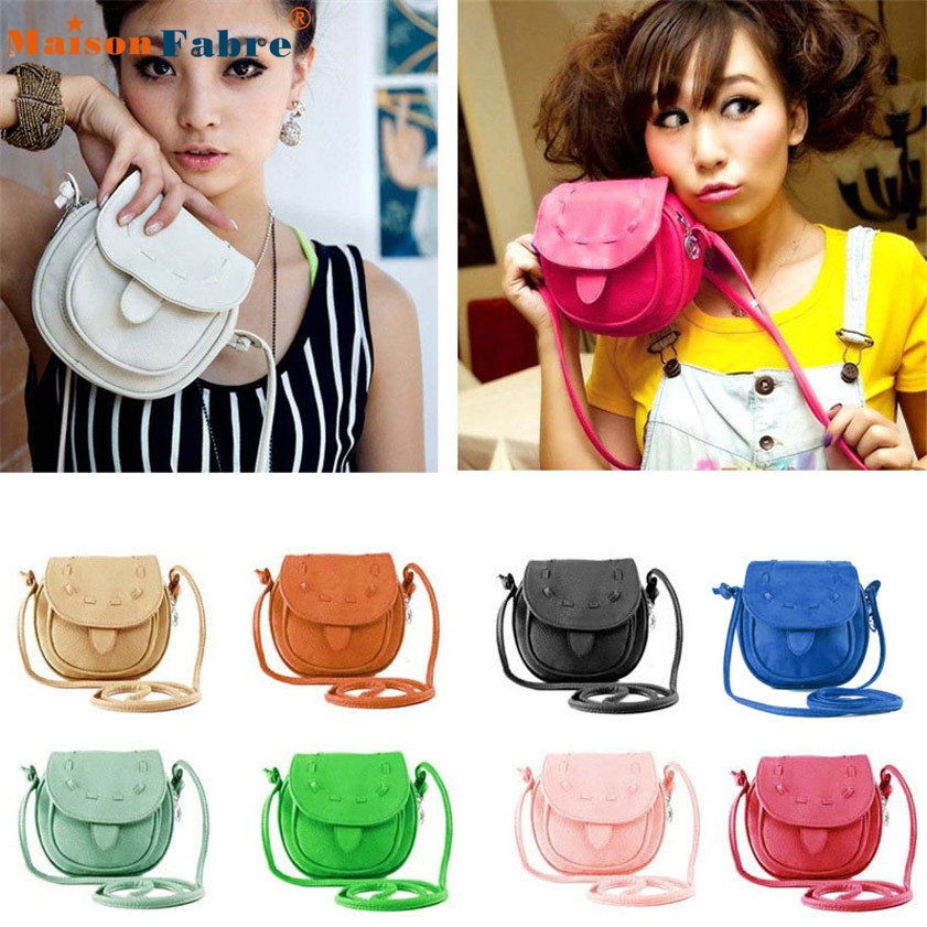 High quality Lovely Cute Girl Pu Leather Mini Small Adjustable Shoulder font b Bag b font