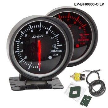 BF 60 мм светодиодный Манометр высокого качества автомобильный прибор измерения двигателя с красным и белым светильник для BMW e39 EP-BF60003-OILP