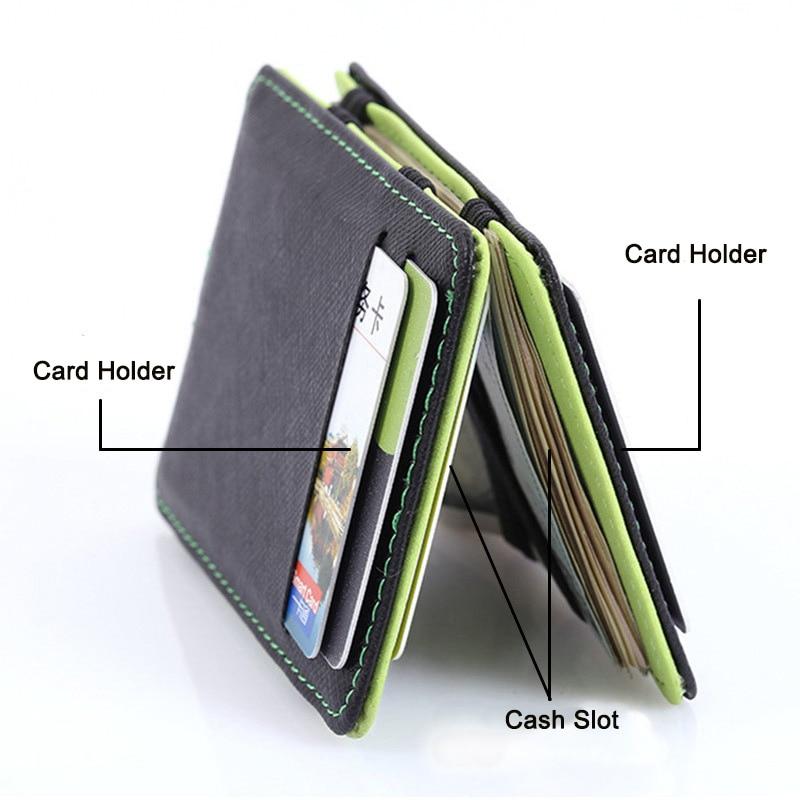 8dd4aed85 KUDIAN oso Minimalista hombres cartera Slim tarjeta monedero magia ...