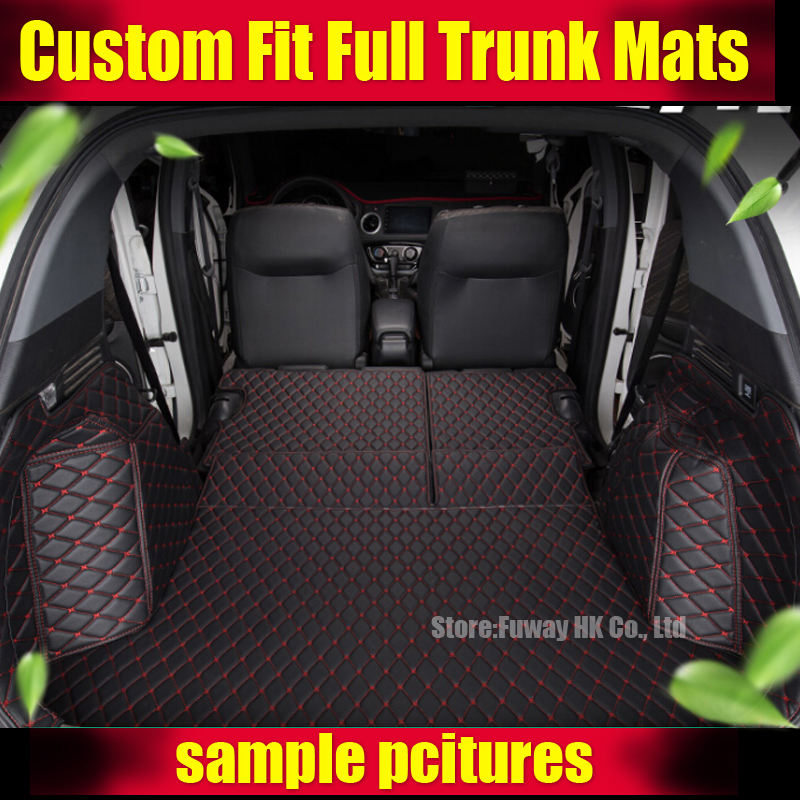 Custom fit car trunk mats for Porsche Cayenne SUV Cayman Macan 3D car styling heavy duty tray carpet cargo liner waterproof custom cargo liner car trunk mat carpet interior leather mats pad car styling for dodge journey jc fiat freemont 2009 2017