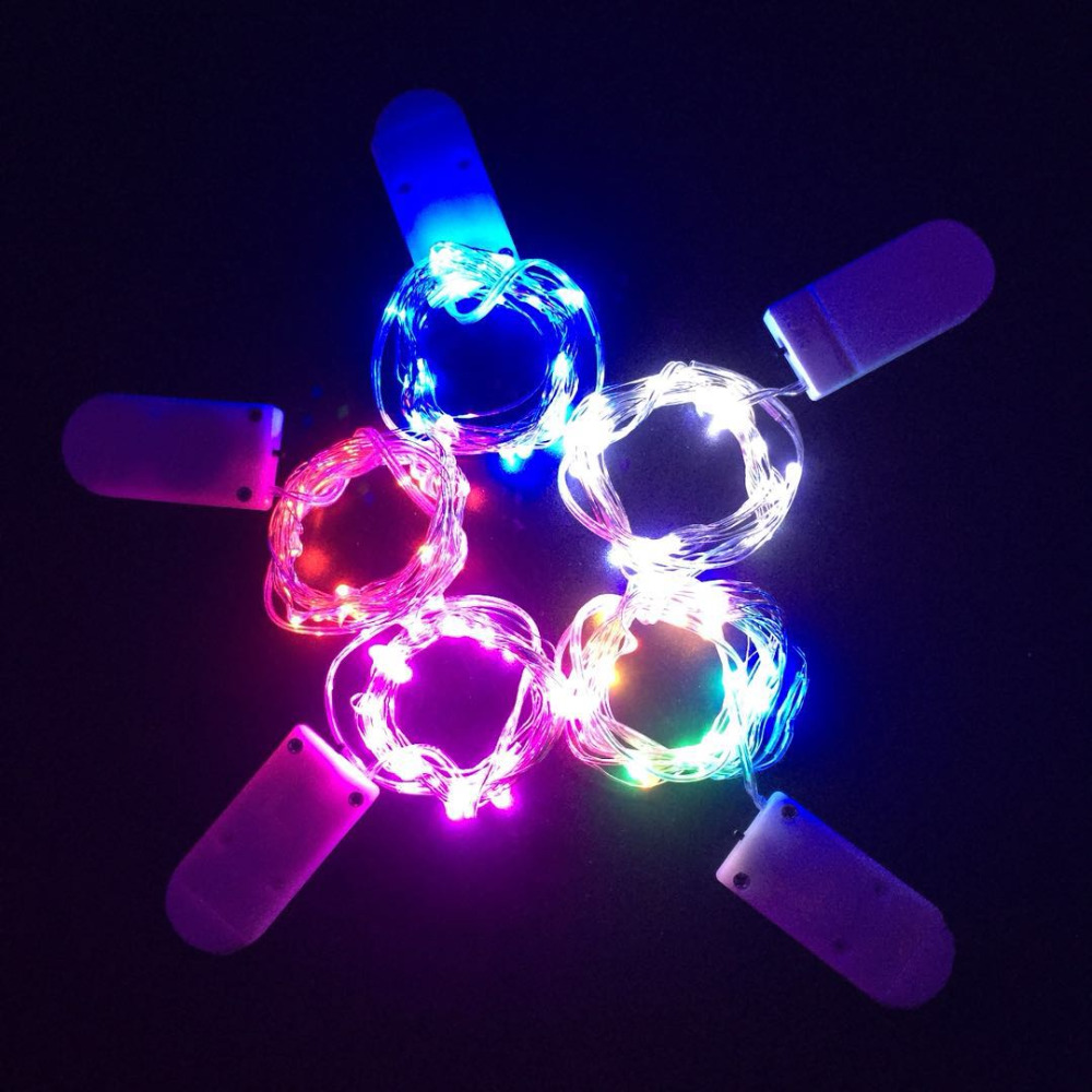 YB Yiba 2M 20 LED Fairy Garland Lamp LED String Lights Christmas Wedding Home Party Decoration Powered By CR2032 Battery