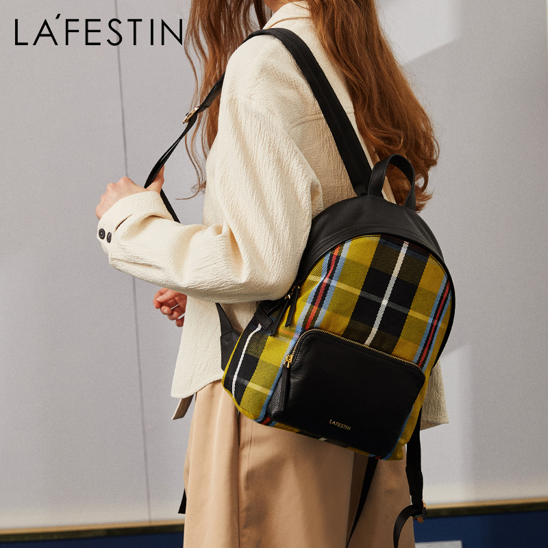 LAFESTIN Brand Women Backpack Preppy Style School Bags For Teenagers Girls Top-handle Backpacks High Quality Mochilas canvas backpack women dot school bag for teenagers girls preppy style composite bags set travel high quality female backpacks