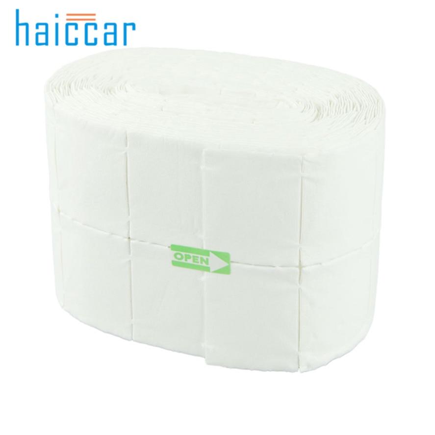 HAICAR New High Quality 500 Lint Free Each Roll Nail Wipes Cotton Pad Gel Acrylic Nail Polish Remover Pretty Nail Polish Remover