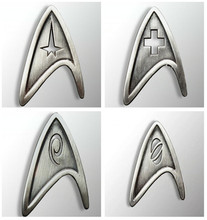 4 Types Star Trek Starfleet Command Engineering Science Medical Division Handmade Badge Brooch Pin Cosplay Prop For Collection