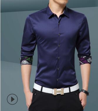 2018 printemps et automne mince hommes de chemise à manches longues jeune version Coréenne de l'auto-dressing et faible -repassage chemise d'affaires GZ-101