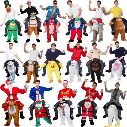 Halloween porter mascotte Costume Ride sur ours Oktoberfest Costume Me Fantasia adulte noël