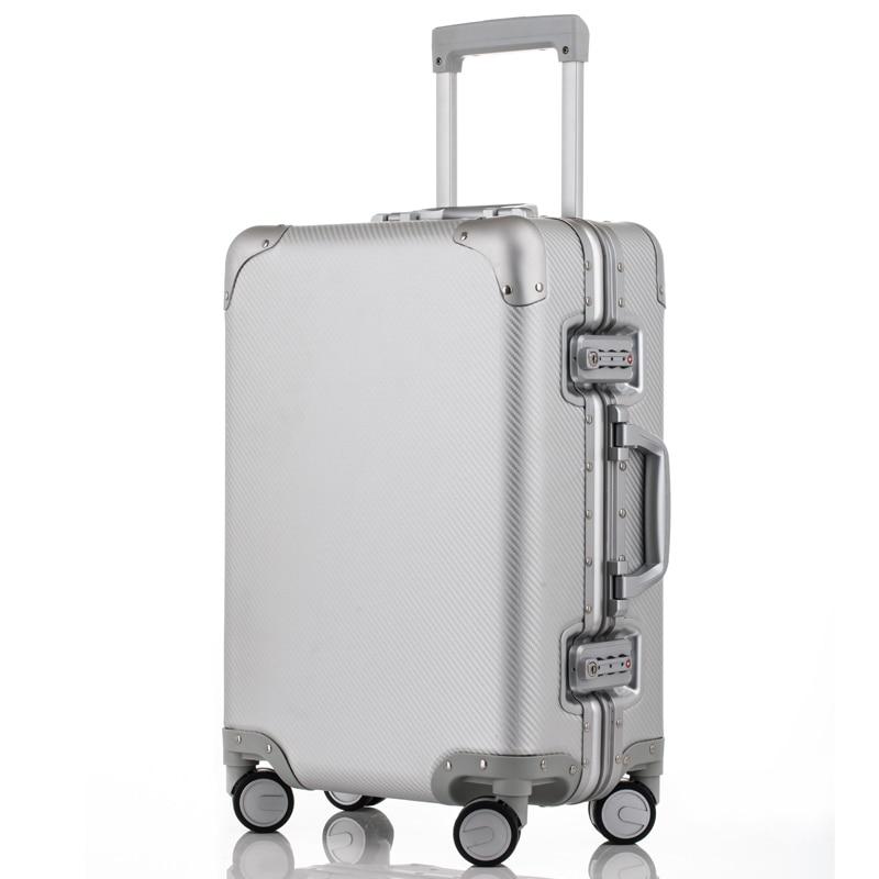 Classic Retro Aluminum Luggage Suitcase 20242628 Carry On Luggage Hardside Rolling Luggage Travel Trolley Luggage SuitcaseClassic Retro Aluminum Luggage Suitcase 20242628 Carry On Luggage Hardside Rolling Luggage Travel Trolley Luggage Suitcase