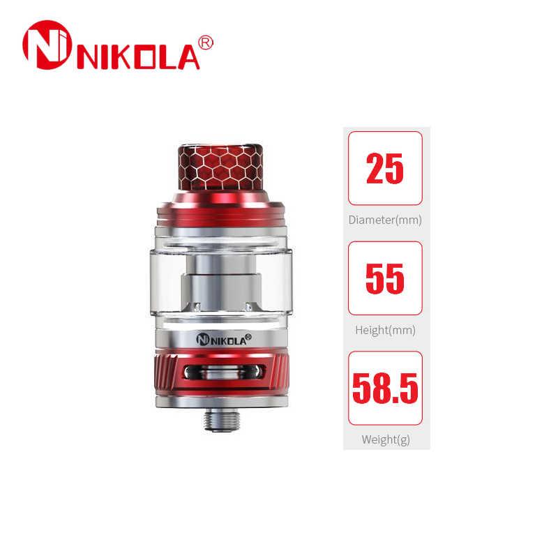 Apuramento Nikola Lapetus Sub Ohm Tanque 4.5 ML/ML de Capacidade E cigs Com 0.18ohm 6 Malha Bobina Vape VS tanque