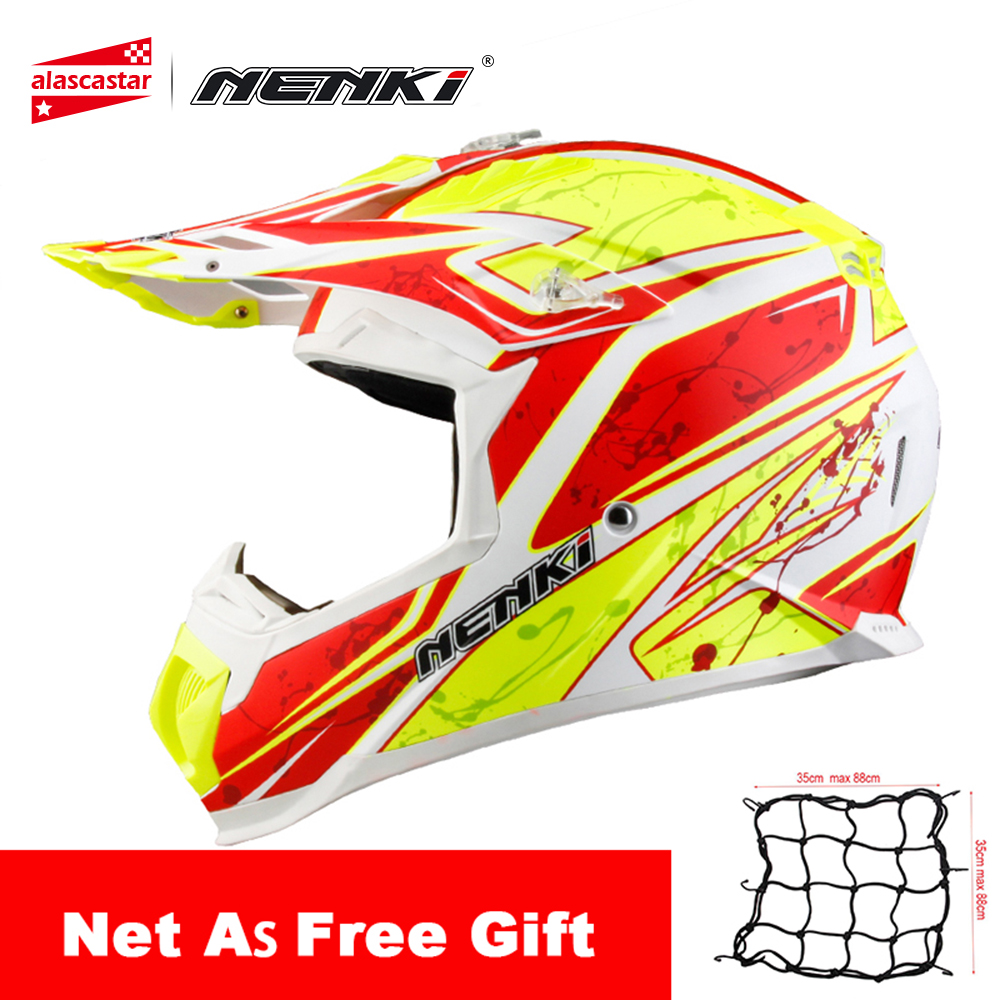 NENKI Motocross Helmet Motocycle Helmet Men Women Extreme Sports Motorcycle ATV Dirt Bike MX BMX DH MTB Racing Moto Helmet motorcycle bag top case motogp moto bags for yamaha racing riding cycling water bag dh mx atv mtb suit case motocross backpack