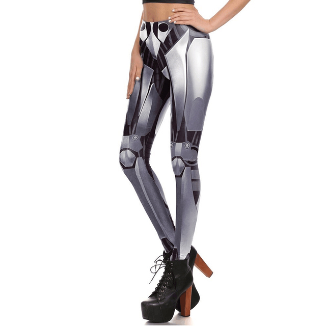 0794686c49 US $7.49 25% OFF 2018 New women's pants Iron and steel robot 3D digital  printing pattern woman Leggings women Legging Sexy trousers size S XL -in  ...