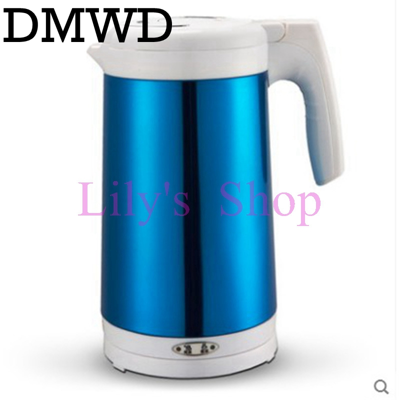 DMWD 1.8L electric kettle stainless steel auto hot water Quick heating teapot Anti Dry Boiling tea pot Boiler 1200W EU US plug