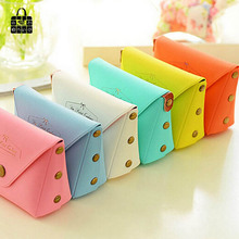 1pcs Women Lovely candy color marca dragon Coin Purse Small Wristlet lady Wallet Girls Change Pocket Pouch Hasp Bag  Keys Case