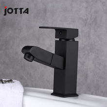 Copper hot and cold pull faucet Bathroom lavatory wash toilet black
