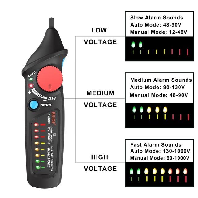 Voltage Detector AC 12-1000V Circuit Tester Pen Multimeter
