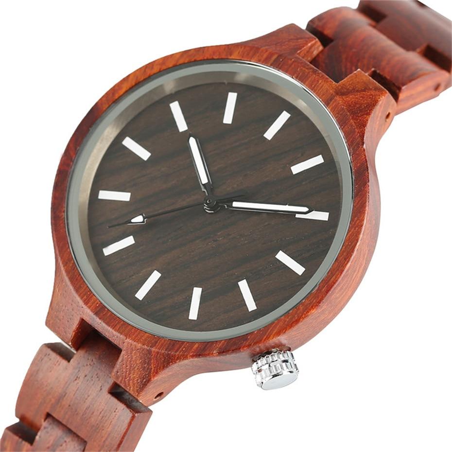 YISUYA Fashion Natural Simple Casual Wood Bamboo Wooden QuartzWatches Ladies` Bracelet Clasp Analog Women Gift Clock Relojes (19)
