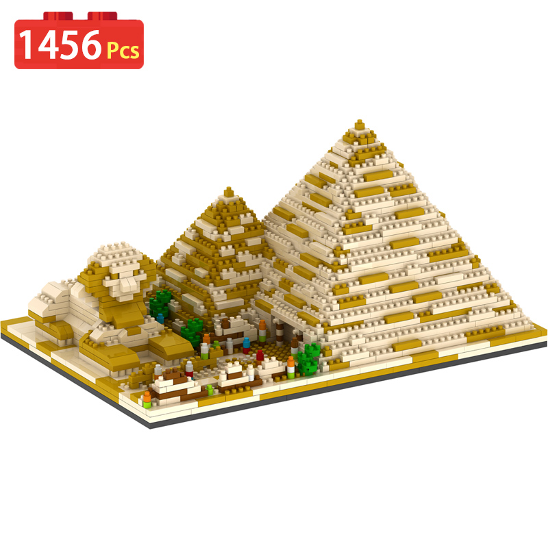1456pcs Pyramid Model Children Compatible LegoINGLYS Building Block Toy 3D Bricks Toy For Children Gift large block black pearl model ship set 3d block brick plastic diy building blocks gift children compatible educational toy