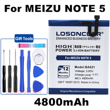 LOSONCOER 4800mAh BA621 Battery For Meizu Meilan Note5 M5 Note 5 Smart Phone Battery+Quick Arrive(China)