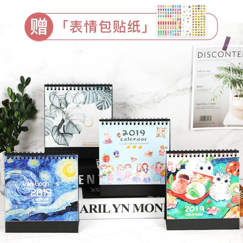 Office & School Supplies Kawaii Cartoon Animal Desk Standing Paper Calendar Multifunction Schedule Planner Notebook Calendar