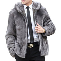 2017 Fall Winter Faux Fur Hooded Coat Men's Wild Personality Thick Fur Jacket Leather Male Windbreaker Thick Plus Size S 5XL