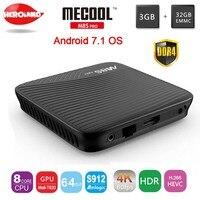 M8S MECOOL PRO Android 7.1 Amlogic Pole TV BT 4.1 DDR4 S912 2.0 GHz Octa Rdzeń ARM Cortex-A53 4 K Full HD 3D PK KI PRO set top box