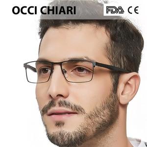 Image 1 - OCCI CHIARI 2018 אופנה מותג גברים טלאים רומן עיצוב מלבן עין משקפיים נקה עדשה אופטי מסגרות משקפיים W CERIONI