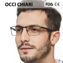OCCI CHIARI gafas rectangulares de retales para hombre, lentes transparentes, monturas ópticas, W CERIONI, novedad de 2018