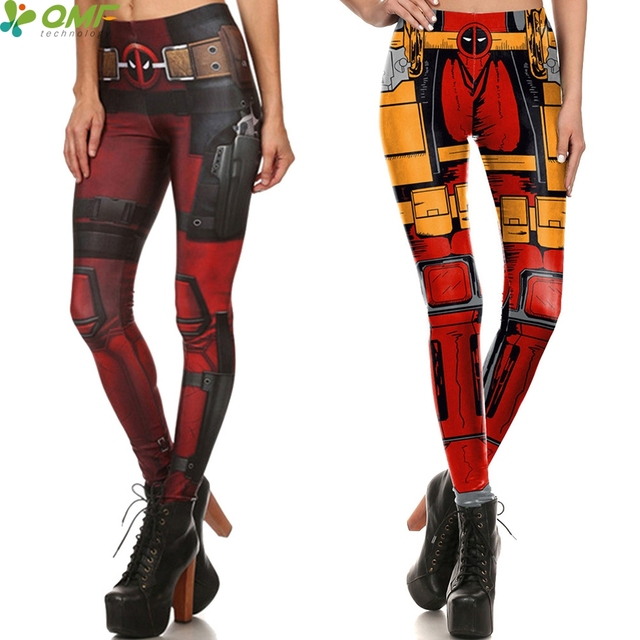 c600656d74caf Deadpool Costume Yoga Pants Halloween Cosplay Leggings Skinny Sports Fitness  Gym Legging Punk Women Pencil Trousers Sexy Push Up