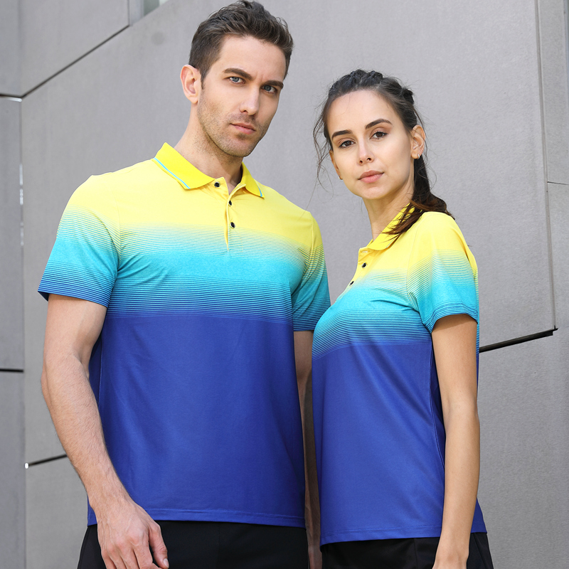 2018 New High Quality Running Sport Outdoor Quick Dry Train Breathable Badminton Shirt Women Men Table tennis Golf Polo T-shirts