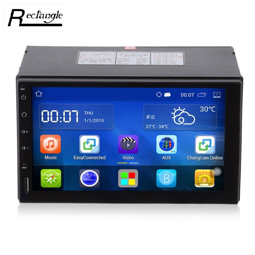imágenes para 2 Din Android 5.1 Car Radio Stereo Pantalla Táctil de 7 pulgadas Reproductor de DVD del coche de Navegación GPS Bluetooth USB SD Control Del Volante