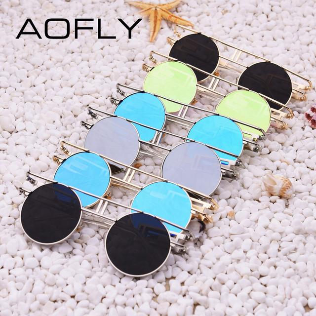 1056d5e1d6647 AOFLY Fashion Metal Frame Steampunk Sunglasses Women Brand Designer ...