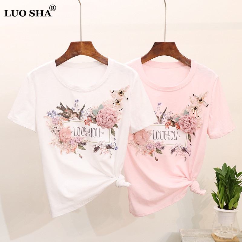 7437588f best top t shirt women birds flowers brands and get free shipping ...