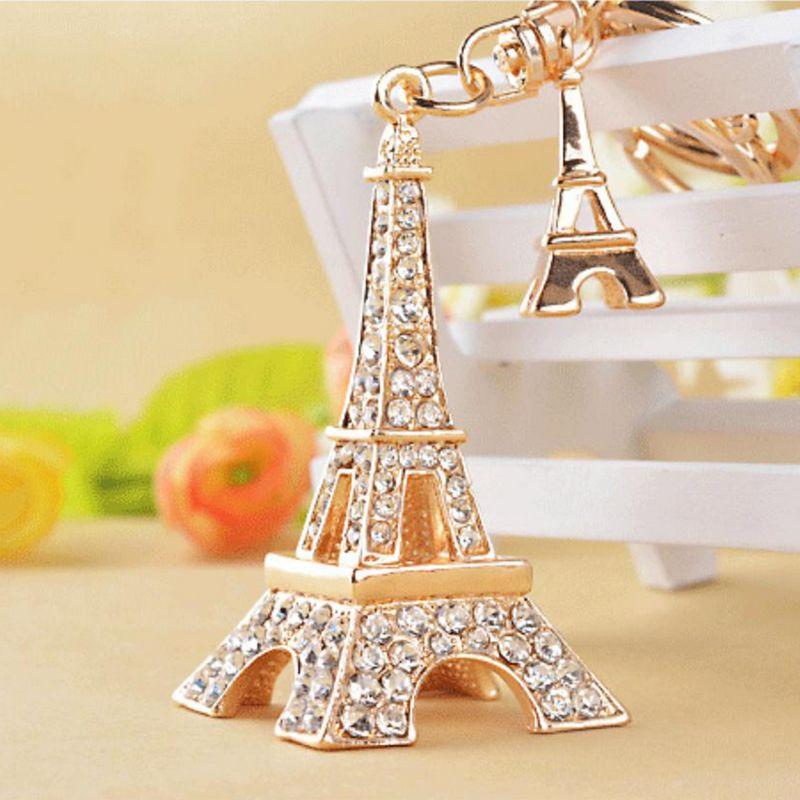 Silver Eiffel Tower Eiffel Tower Keychain Initial Key Ring Paris Souvenir France Souvenir Personalized Keychain Initial Keychain