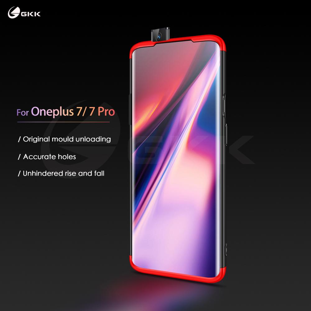 GKK Original Case for Oneplus 7 7t pro Case 360 Full Protection Shockproof Matte Hard Pc 3 In 1 for Oneplus 7 7t pro Cover Coque