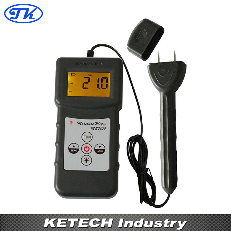 Professional Wood Moisture Meter Timber Bamboo Tester over to 150 kinds wood MS7100 цена