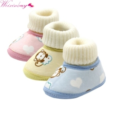 Baby Shoes Crochet Knit Fleece Boots Toddler Girl Boy Wool S