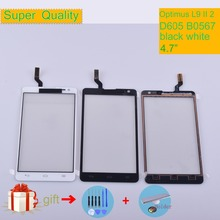 For LG Optimus L9 II 2 D605 B0567 Touch Screen Touch Panel Sensor Digitizer Front Glass Outer Touchscreen NO LCD black white white outer front touch screen digitizer glass panel replacement for lg optimus f70 d315 with tools