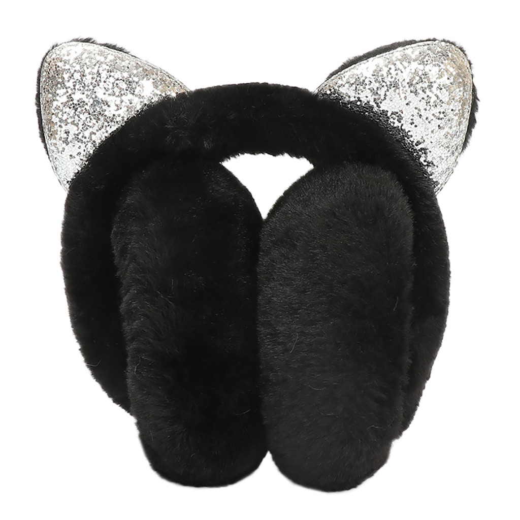 Apparel Accessories 2018 Kbb Spring Sale Winter Faux Fur Navy Blue White With Snowflakes & Asterisk Fashion Design Knit Yarn Winter Earmuffs Men's Earmuffs