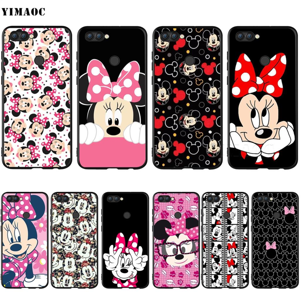 YIMAOC Minnie Mouse Girls Cute Silicone Case for Huawei Honor Mate Y6 6A 8 9 10 P8 P9 P10 P20 P Smart Lite Pro 2017