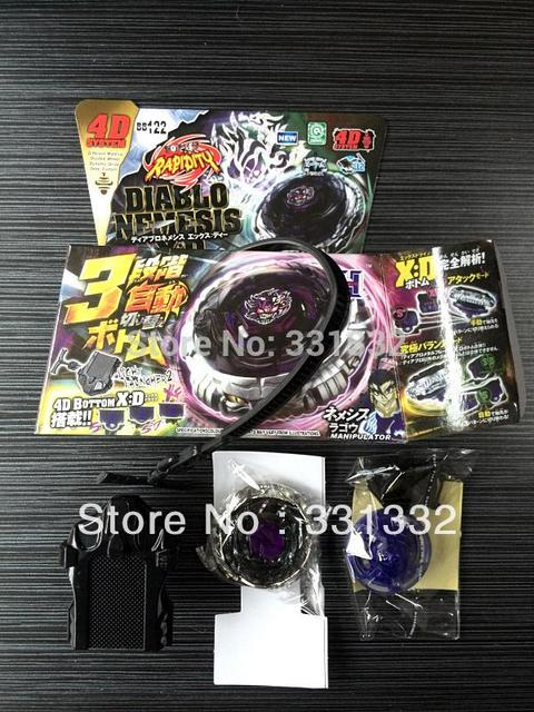 1pcs Beyblade Metal Fusion 4D Set NEMESIS X:D+Launcher Kids Game Toys Children Christmas Gift BB122 S30