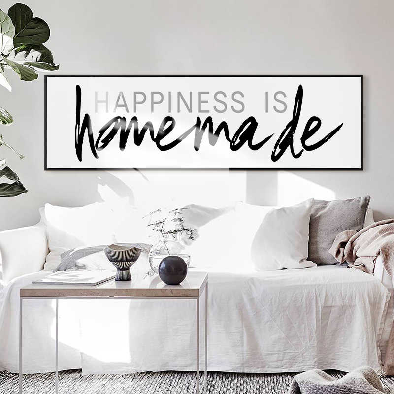 Modern Pop Minimalist Black and White Love Home Quotes Posters Worm Words  Prints Wall Art Pictures for Living Room Home Decor