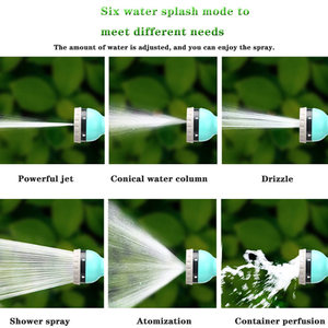 Image 5 - Garden Water Gun Shower Tool Outdoor Irrigation Does Not Hurt Plant Sprayer Car Wash Hose Multi mode Household Suit