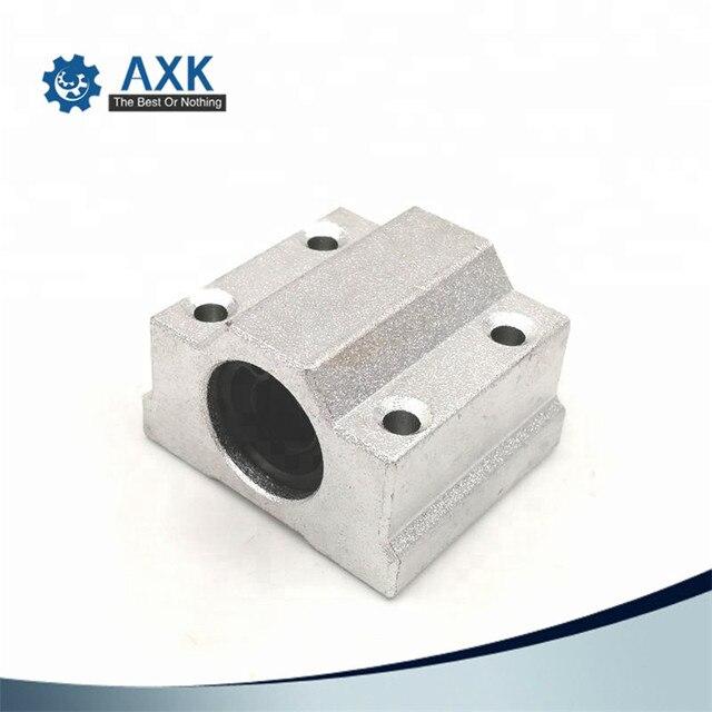 1pc SC8UU SCS8LUU 8mm bloque de rodamiento de bolas lineal CNC Router SCS6UU SCS10UU SCS12UU SCS13UU para CNC 3D impresora ejes Rod partes