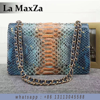 2017 Python Leather Luxury Brand Runway Lady Handbag 100 Handmade Top Quality CL17002