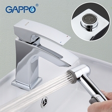 купить GAPPO Deck Mounted Basin Faucet Solid Brass Chrome Plated Polished Sink Mixer Tap With Bidet Sprayer Water Tap Faucet дешево