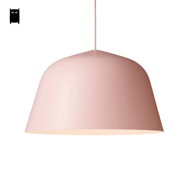 White Black Green Pink Pendant Light Shade Fixture Modern Korean Nordic Scandinavian Hanging Lamp Luminaria Design Dining Room