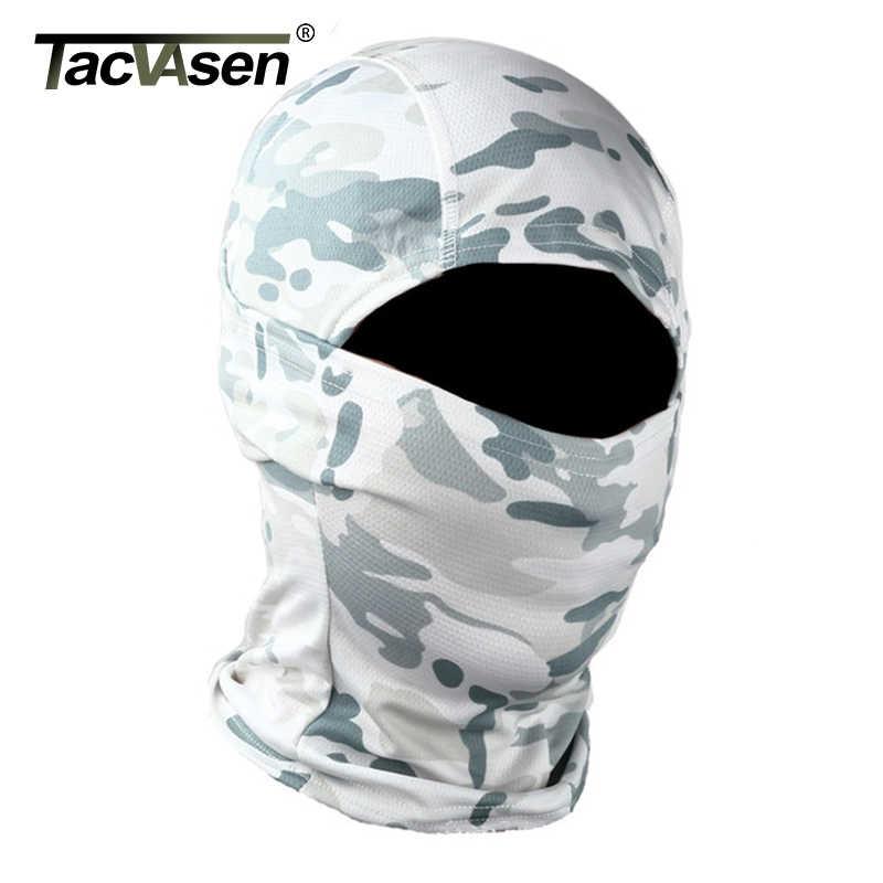 Tacvasen Taktis Kamuflase Balaclava Wajah Penuh Masker Permainan Berburu Menembak Sepeda Tentara Militer Helm Liner Tempur Airsoft Gigi