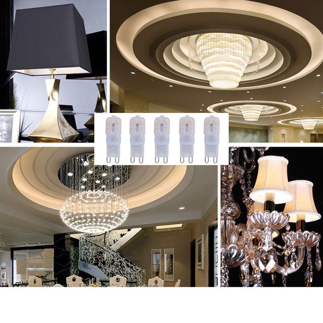 Dimmable G9 Lamp Led Bulb AC220V SMD 2835 LED G9 Light Replace Halogen Chandelier Lamp Light 14LEDs 22LEDs